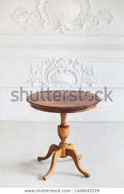 vintage round coffee table rococo style