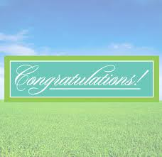 Congratulations Banner Decals And Wall Decor Stickers