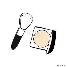 powder blusher in black round case