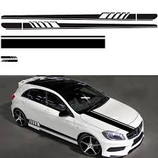 5pcs Set Car Stickers Stripe Auto Car Body Stripe Sticker Decals Vinyl Head Cover Rearview Mirror Side Stripe Stickers Car Stickers Aliexpress