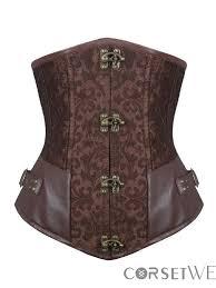 steel boned leather underbust corset