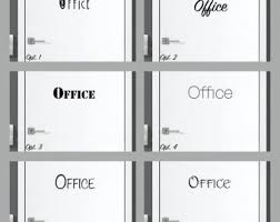 Office Decal Office Sticker Office Door Decal Art Or Wall Etsy