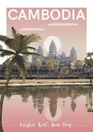 Angkor Wat Cambodia Vintage Postcards Travel Vintage Travel Posters Travel Postcard
