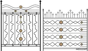 Wrought Iron Gate Door Fence Window Grill Railing Design Stock Image And Royalty Free Vector Files On Fotolia Com Pic 45312167