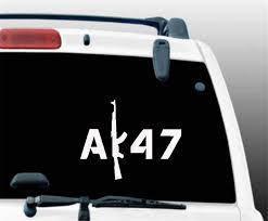 Amazon Com Ytedad Car Decal Stickers Car Decal Car Sticker Ak47 Car Or Laptop Decal Vinyl Ak 47 Sticker For Window Bumper Truck Art Decor Home Kitchen