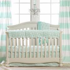 mint woodland crib bedding perless