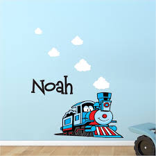 Custom Train Kids Bedroom Wall Decal Thomas The Train Wall Decal Train And Railroad Boys Room Wall Art Stickers Primedecals