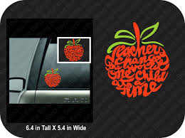 Teacher Car Window Decal Teacher Apple Car Window Decal Vinyl Etsy Window Decals Car Window Decals Window Vinyl