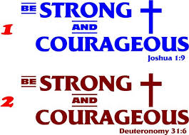 Be Strong And Courageous Window Wall Decal Joshua 1 9 Etsy