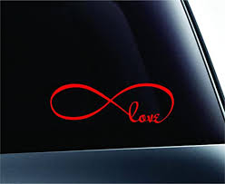 Amazon Com Expressdecor Infinity Love Symbol Heart Couple Life Computer Laptop Symbol Decal Family Love Car Truck Sticker Window Red Automotive