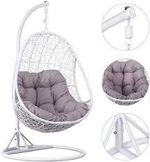 yaheetech hanging rattan swing chair
