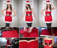 how to make santa girlish costume diy