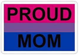 Amazon Com Proud Mom Bi Sticker Graphic Bumper Window Sicker Decal Gay Pride Sticker Automotive
