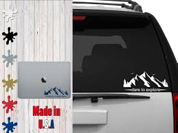 Dare To Explore Decal Choose Your Size Car Decal Laptop Decal Mug Decal Tumbler Decal Cup Decal Phone Decal Car Decals Vinyl Phone Decals Tumbler Decal