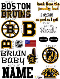Boston Bruins Cranial Band Decoration From High Quality Vinyl For Baby Helmets
