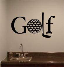 Sports Wall Decal Golf Themed Words Man Cave Golfing Decor Golf Room Golf Decor Sports Wall Decals