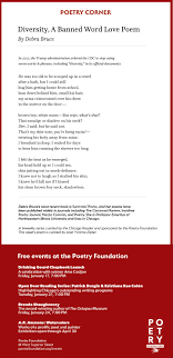 diversity a banned word love poem