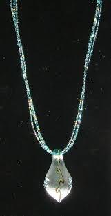 aqua leaf murano glass necklace set