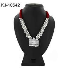 red dokra oxidized necklace
