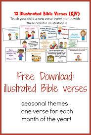illustrated bible verses for kids kjv christian homeschool family
