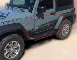 Product Jeep Decal Sticker Splash Side Rocker Door Graphics 07 17 Wrangler Jk 2 Door