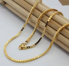 3mm box chain men s long necklace in