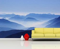 Nature Wall Mural Moutains In Cloud Wall Mural Foggy Etsy Large Wall Murals World Map Wall Art Panoramic Wall Decor