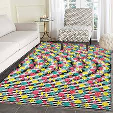 rug kid carpet black and white stripes