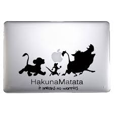 Laptop Macbook Vinyl Stickers Lion King Hakuna Matata Macbook Vinyl Stickers Lion King Hakuna Matata Vinyl Sticker