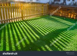 Shadows Wooden Picket Fence Front Yard Stock Photo Edit Now 1020650587