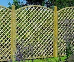 Fence Panel 630 Planed Timber 70x70mm Trellis 2x2 Frame