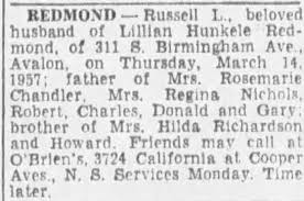 Obituary for Russell L. REDMOND - Newspapers.com