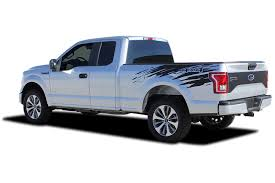 2015 2020 Ford F 150 Truck Bed Vinyl Graphic Racer Rip Decal Side Stripes Mudslinger Kit