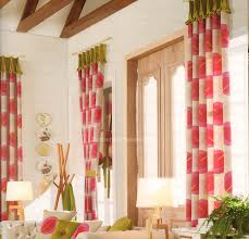 Red Leaf Pattern Kids Room Girls Curtains 2016 New Arrival