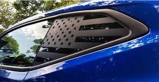 Rear Quarter Glass American Flags Camaro Mustang Similar Savagex Designs