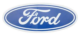 Ford Oval Decal White Background 3 5 X1 5 Lmr