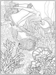 Zeer Fijne Tekeningen Zeemeermin Cartoon Zeemeermin Of Sirene