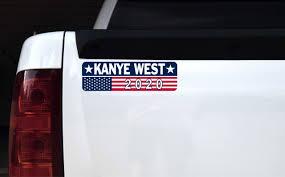 Stickertalk Kanye West 2020 Magnet 10 Inches X 3 Inches Stickertalk