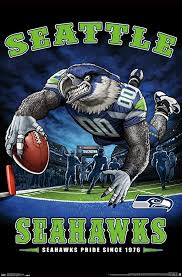 Amazon Com Trends International Nfl Seattle Seahawks End Zone 17 Wall Poster 22 375 X 34 Unframed Version Home Kitchen