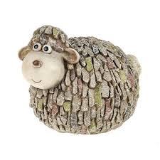 chipper stone effect sheep garden ornament
