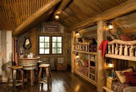 Rustic Kids Bedrooms 20 Creative Cozy Design Ideas Cabin Interior Design Kids Bedroom Rustic Log Cabin Interior