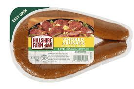 lite smoked sausage hillshire farm brand