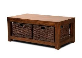 mango large coffee table with baskets