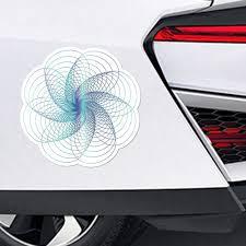 Spiral Pattern Henna Mandala Symbol Flower Blue Car Sticker Vinyl Accessories Decorative Car Accessories Car Stickers Aliexpress