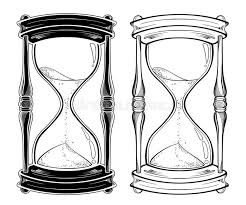 hourglass tattoo design stock