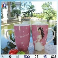 China Factory Best Selling Ceramic Mugs With Logo Hot Pink Cartoon Coffee Mug Cc Princess Decal Printing Gaodeng Factory And Manufacturers Gaodeng
