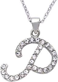 initial letter p pendant necklace