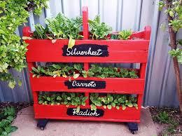 diy vertical pallet vegetable garden on