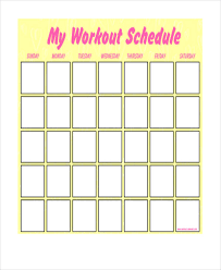 blank workout schedule template 8