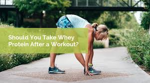 should you take whey protein after running